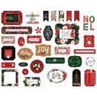 Carta Bella - Happy Christmas, Ephemera, 33 kpl