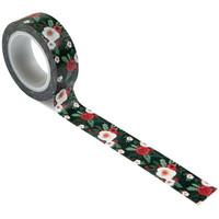 Carta Bella - Happy Christmas Decorative Tape, 15mmx9m, Cozy Floral