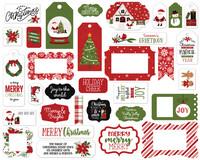 Echo Park - Christmas Magic Frames & Tags, Leikekuvia, 33 kpl