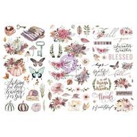 Prima Marketing - Hello Pink Autumn Rub-On Transfers, Siirtokuvia, 3arkkia