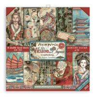 Stamperia - Sir Vagabond in Japan, Paper Pack 8