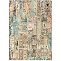 Stamperia - Sir Vagabond in Japan, Rice Paper, A4, Oriental Texture