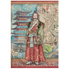 Stamperia - Sir Vagabond in Japan, Rice Paper, A4, Samurai