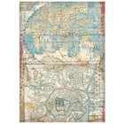 Stamperia - Sir Vagabond in Japan, Rice Paper, A4, Map