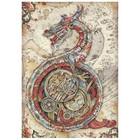 Stamperia - Sir Vagabond in Japan, Rice Paper, A4, Mechanical Dragon