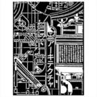 Stamperia - Sir Vagabond in Japan, Stencil 15x20cm, Texture Mechanism