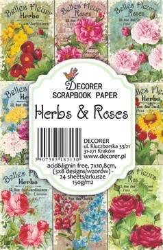 Decorer - Herbs & Roses, Korttikuvia, 24 osaa