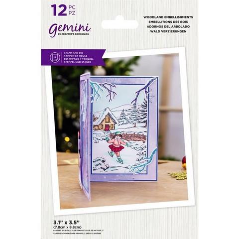 Gemini - Stamp & Die, Woodland Embellishments, Stanssi- ja leimasetti