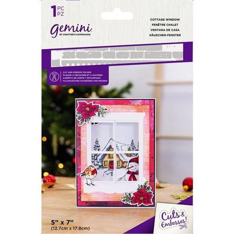 Gemini - Cut and Emboss Folder, Cottage Window