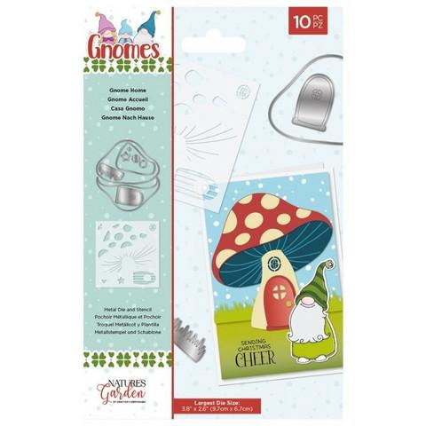 Crafter`s Companion - Gnomes, Stanssi- ja Sapluunasetti, Gnome Home