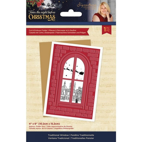 Crafter`s Companion - Twas the Night Before Christmas, Cut and Emboss Folder, Traditional Window