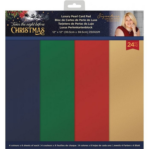 Crafter's Companion - Twas the Night Before Christmas, Pearlescent Card Pad 12