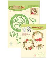 LeCrea Design - Christmas Wreath, Leima- ja Stanssisetti