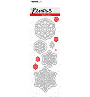 Studio Light - Cutting Die Essentials nr.66, Stanssisetti, Christmas Small Snowflakes 2