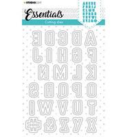 Studio Light - Cutting Die Essentials nr.77, Stanssisetti, Alfabet Folding