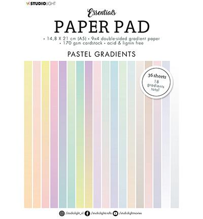 Studio Light - Paper Pad Gradient Pastel Essentials nr.19, A5, Paperikko