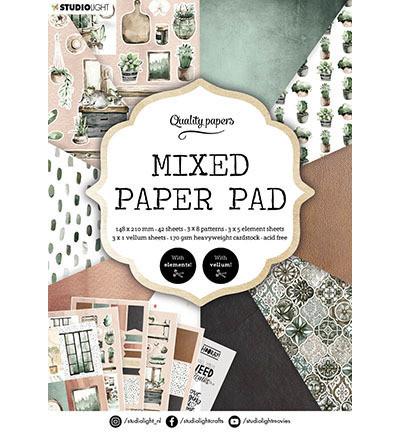 Studio Light - Mixed Paper Pad, Essentials nr.157, A5, Paperikko