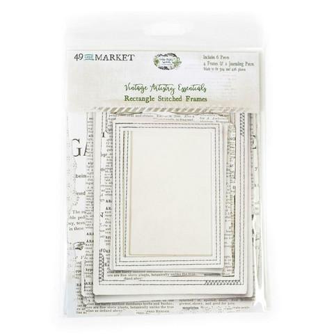 49 and Market - Vintage Artistry Essentials File Frame Set, Rectangle Stitched