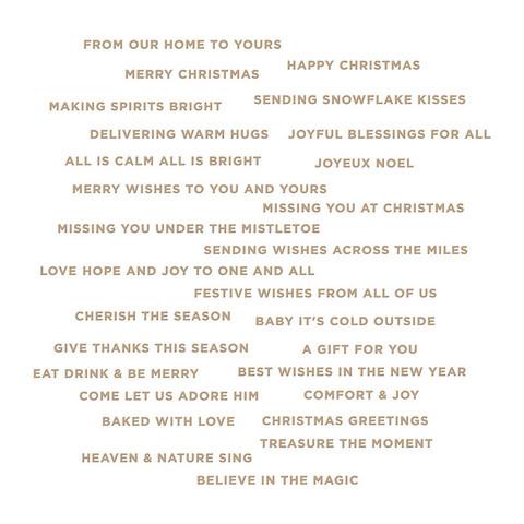 Spellbinders - Glimmer Hot Foil Plate & Die, Mini Christmas Sentiment Strips