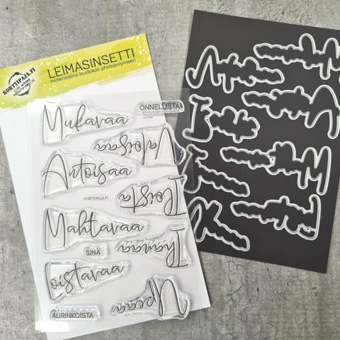 Korttipaja.fi - Upeaa ja Mahtavaa, Leimasinsetti +stanssit