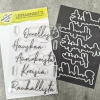 Korttipaja.fi - Hauskaa ja Onnellista, Leimasinsetti +stanssit