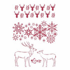 Stamperia - Winter Tales, Stencil A4, Love