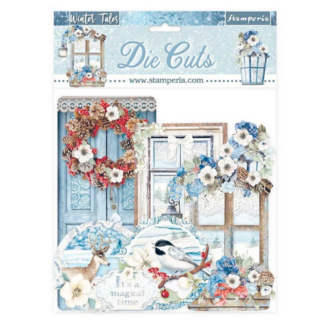 Stamperia - Winter Tales, Die Cuts, 34osaa, Quotes & Labels