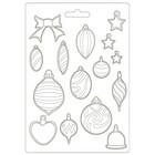 Stamperia - Romantic Christmas, Soft Mould, Muotti, A4, Balls