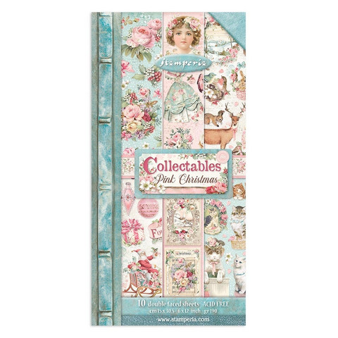 Stamperia - Pink Christmas, Paper Pack 6