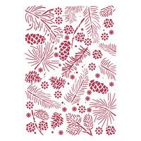 Stamperia - Christmas Pinecones, Stencil A4