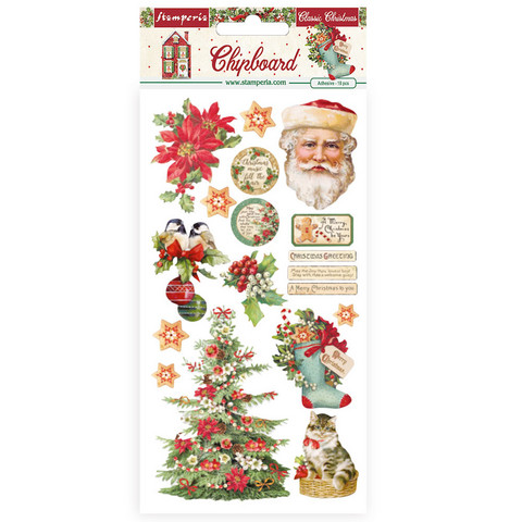 Stamperia - Classic Christmas, Chipboard