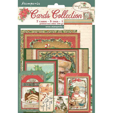 Stamperia - Classic Christmas, Cards Collection, 13 osaa