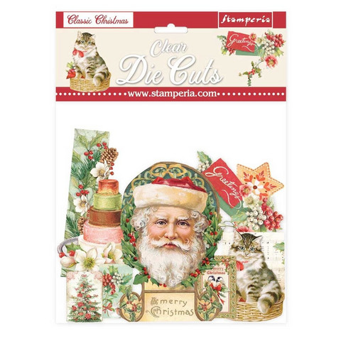 Stamperia - Classic Christmas, Clear Die Cuts, 40osaa
