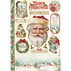 Stamperia - Classic Christmas, Rice Paper, A4, Santa Claus
