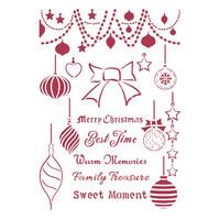 Stamperia - Christmas Patchwork, Stencil A4, Balls