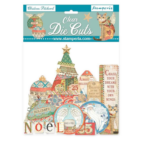 Stamperia - Christmas Patchwork, Clear Die Cuts, 51osaa
