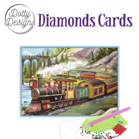 Dotty Designs - Vintage Train (O)(P), Timanttityökortti, 10x15cm