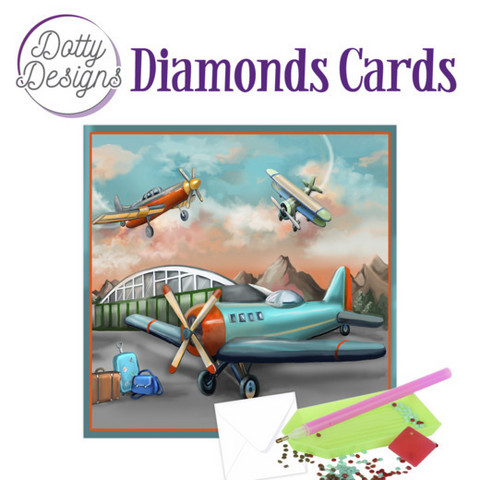 Dotty Designs - Planes (O)(P), Timanttityökortti, 15x15cm