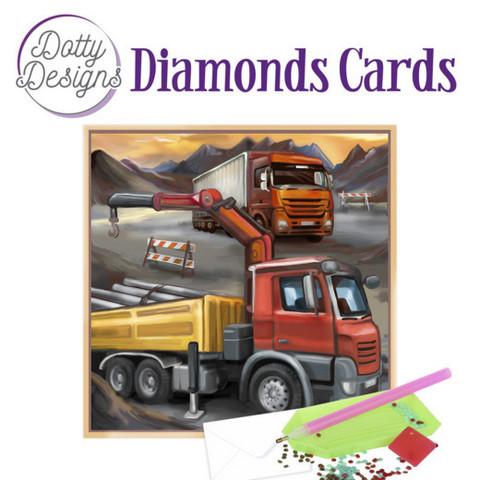 Dotty Designs - Vintage Truck (O)(P), Timanttityökortti, 15x15cm