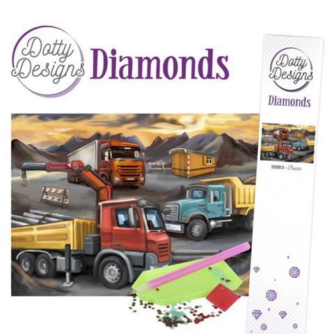Dotty Designs - Trucks (K)(P), Timanttimaalaus, 30x42cm