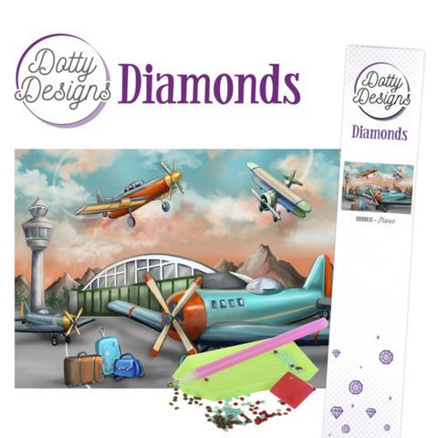 Dotty Designs - Planes (K)(P), Timanttimaalaus, 30x42cm