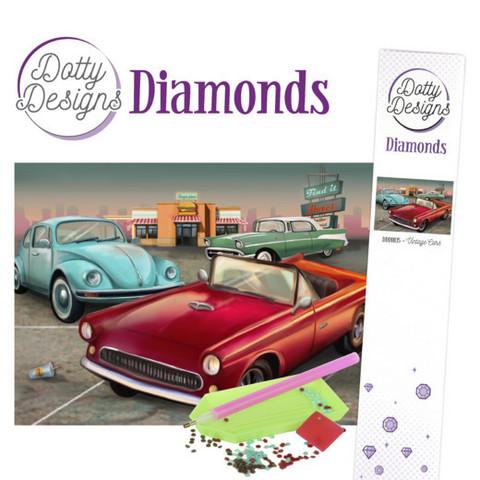 Dotty Designs - Vintage Cars(K)(P), Timanttimaalaus, 30x42cm