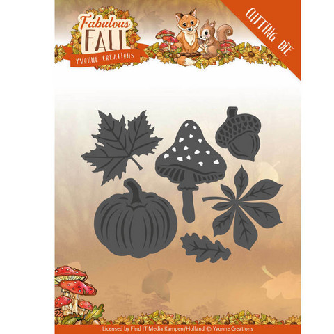 Yvonne Creations - Fabulous Fall, Stanssisetti, Autumn Leaves,