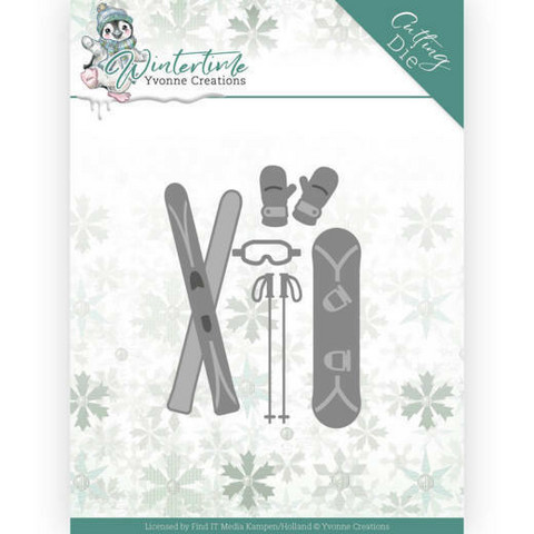 Yvonne Creations - Winter Time, Stanssisetti, Ski Accessoires
