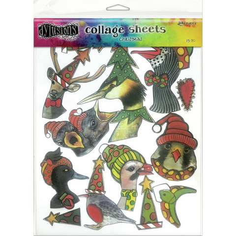 Dyan Reaveley - Dylusions Collage Sheets, Christmas, 15 arkkia