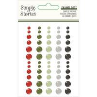 Simple Stories - Simple Vintage Rustic Christmas Enamel Dots, 60 kpl