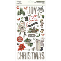 Simple Stories - Simple Vintage Rustic Christmas Chipboard Stickers 6