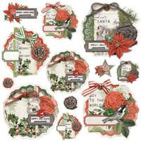 Simple Stories - Simple Vintage Rustic Christmas, Chipboard Clusters, 12osaa
