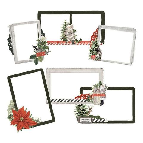 Simple Stories - Simple Vintage Rustic Christmas, Chipboard Frames, 6 kpl