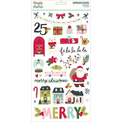 Simple Stories - Holly Days Chipboard Stickers 6